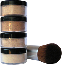 Mineral make up with brush