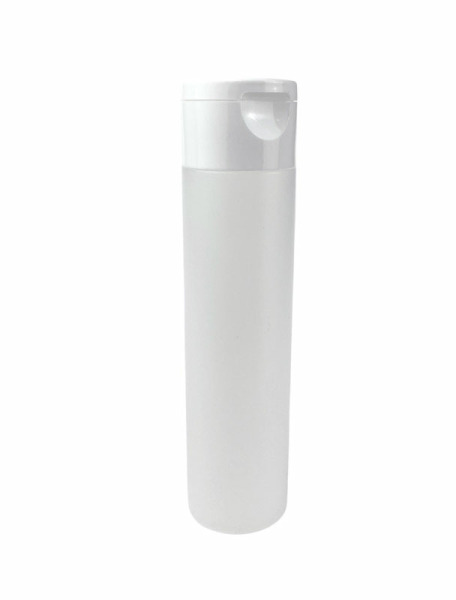 Bottle Green PE natural, 100ml with flip-top PP white   (Flasche Green PE natur, 100ml mit Flip-Top PP weiß)