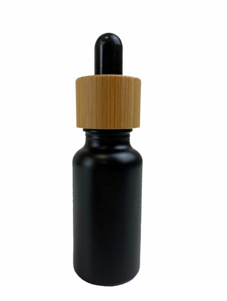 Pipettenflasche, schwarz 20ml, 5 Stück