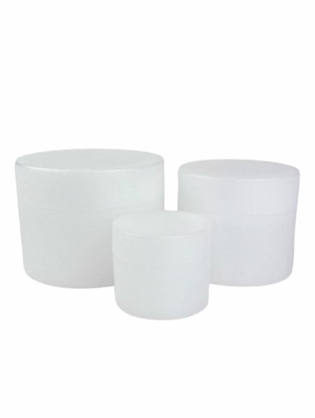 Cream jar Green PE nature   (Cremedose Green PE natur)
